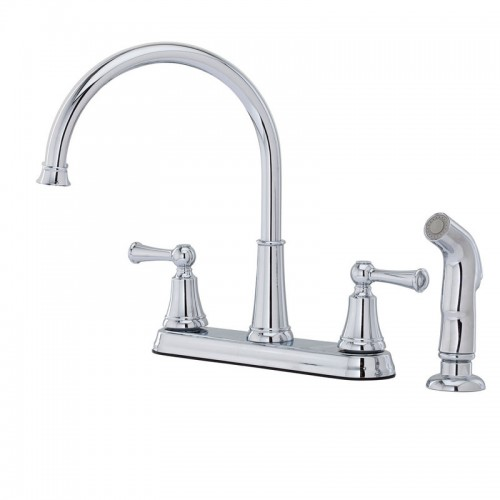 Pfister Bremerton Two Handle Widespread Lead Free Kitchen Faucet With Side Spray
