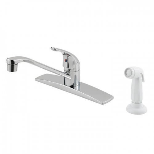 Pfister Pfirst Lead Free Single Handle Kitchen Faucet With Side Spray