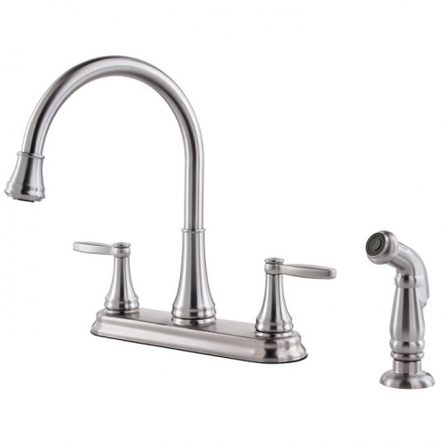 Pfister Glenfield Two Handle Widespread Lead Free Kitchen Faucet With Side Spray