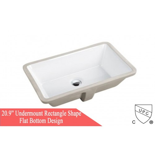 21 Inch Porcelain Ceramic Vanity Undermount Bathroom Vessel Sink