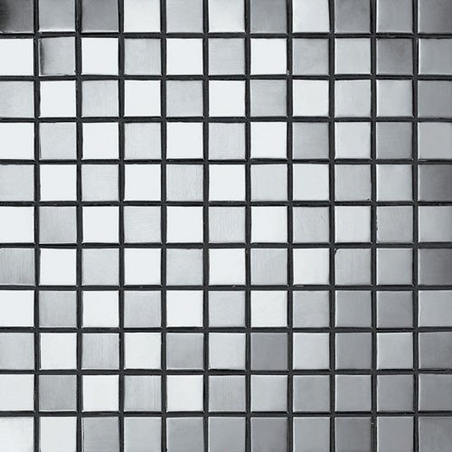 Square Stainless Steel Mosaic Tile Mesh Backed Sheet