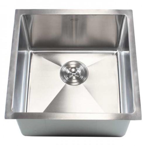 18 Inch Stainless Steel Undermount Single Bowl Kitchen / Bar / Prep Sink 15mm Radius Design - 16 Gauge