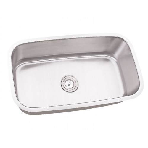 32 Inch Stainless Steel Undermount Single Bowl Kitchen Sink - 16 Gauge