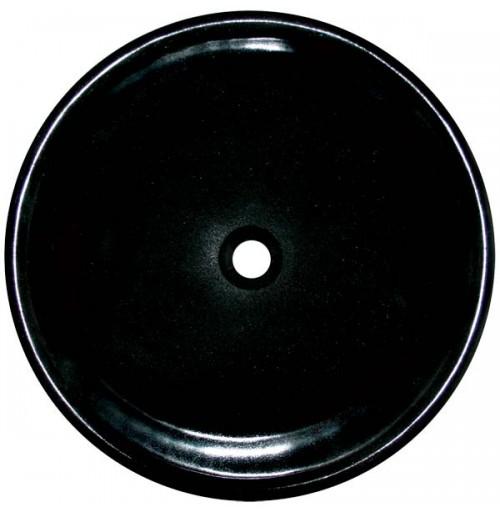 Granite Stone Absolute Black Undermount / Drop In / Countertop Bathroom Lavatory Vessel Sink - 17-1/4 x 5 Inch