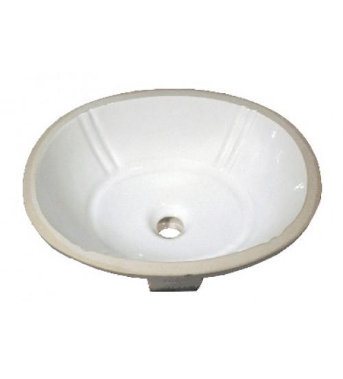 18-1/8 Inch Porcelain Ceramic Vanity Undermount Bathroom Vessel Sink