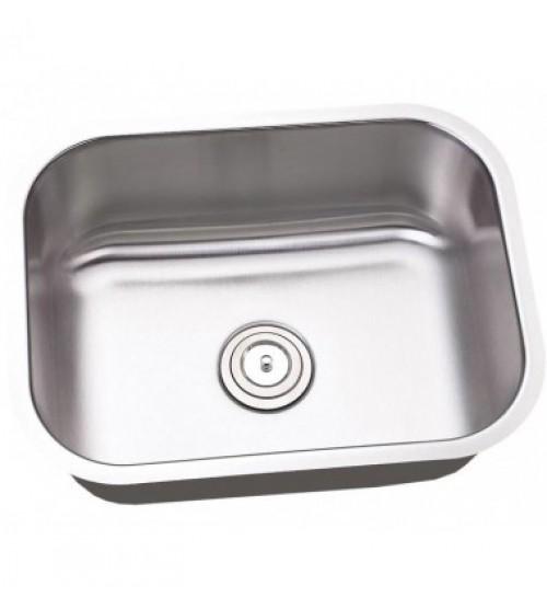 23 Inch Stainless Steel Undermount Single Bowl Kitchen / Bar Sink - 18 Gauge
