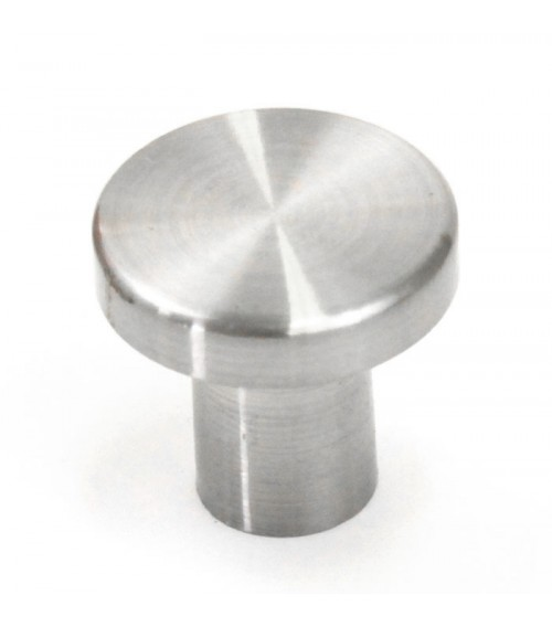 Ale 3/4 Inch Cabinet Pull Knob Brushed Nickel Finish