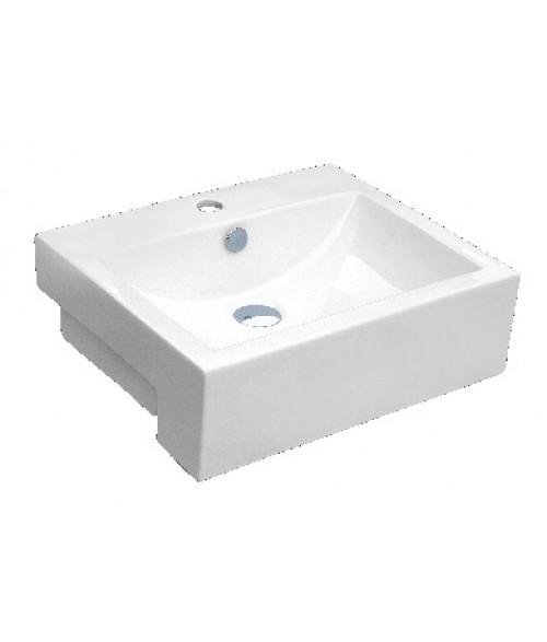 20-1/2 Inch Rectangular Porcelain Ceramic Single Hole Countertop Bathroom Vessel Sink