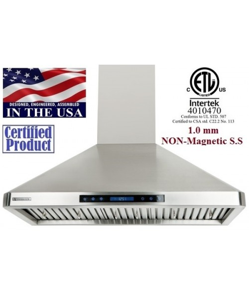 XtremeAIR 36 Inch Wall Mount Stainless Steel Range Hood PX02-W36