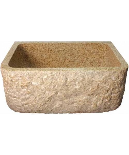 Rockwell Design Stone Granite Front Apron Farm Kitchen Sink - 26-1/2 x 19 x 9 Inch