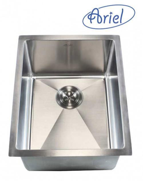 16 Inch Stainless Steel Undermount Single Bowl Kitchen / Bar / Prep Sink 15mm Radius Design - 16 Gauge