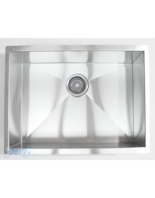 26 Inch Stainless Steel Undermount Single Bowl Kitchen / Bar / Prep Sink Zero Radius Design