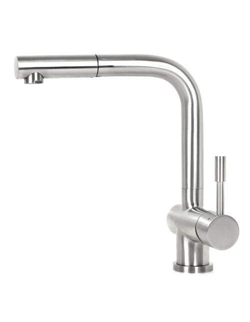 Ariel Flamingo Stainless Steel Lead Free Pull Out Nozzle Single Handle Kitchen Faucet