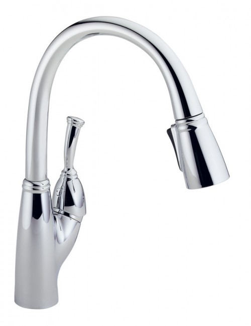 Delta Allora Lead Free Single Handle Design Pull Out Kitchen Faucet