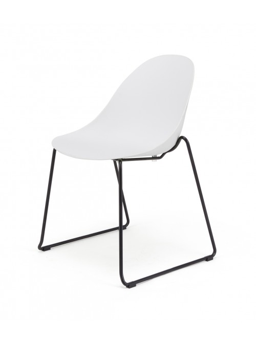 Seline Series Modern Accent Dining Chair with Black Steel Metal Legs - Great for Home, Office, Designer Task Chair
