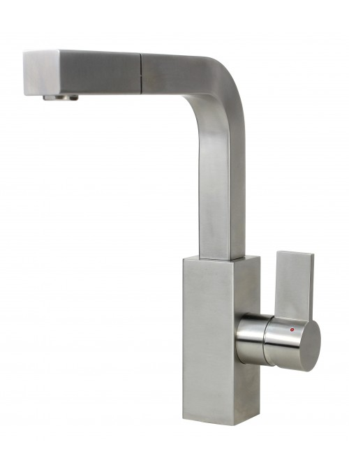 Ariel Carmela Stainless Steel Lead Free Single Handle Pull Out Nozzle Kitchen Faucet