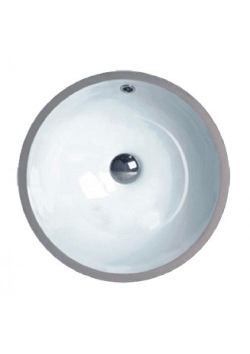 17-3/8 Inch Porcelain Ceramic Vanity Undermount Bathroom Vessel Sink