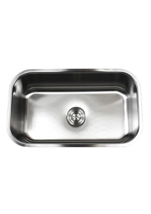 32 Inch Stainless Steel Undermount Single Bowl Kitchen Sink - 16 Gauge