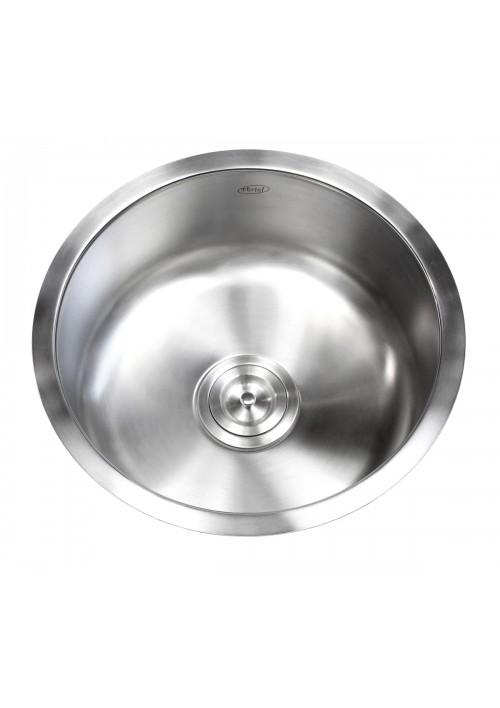 17 Inch Stainless Steel Undermount Single Bowl Kitchen / Bar / Prep Sink Round - 18 Gauge