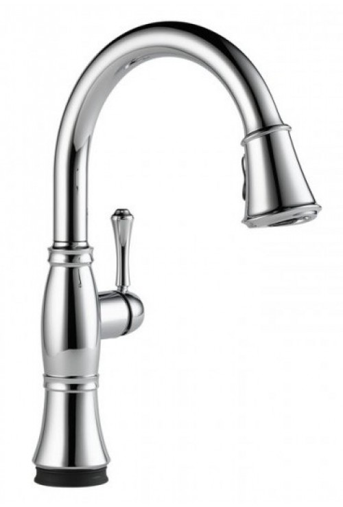 Delta Cassidy Lead Free Single Handle Pull Out Kitchen Faucet Featuring Touch2O Technology