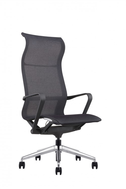 Hilo Series Ergonomic Office Chair High Back Mesh Chair – Hydraulic Adjustable Height and Seat, Tilt Lock, Extensive Lumbar Support Mesh Desk Executive Office Conference Room Chair