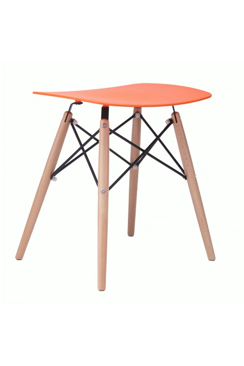 Door 18 Inch DSW Orange Stool