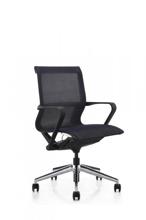 Hilo Series Ergonomic Office Chair Low Back Mesh Chair – Hydraulic Adjustable Height and Seat, Tilt Lock, Extensive Lumbar Support Mesh Desk Office Conference Room Chair