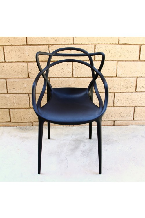 Modern Masters Designer Dining Chair In Black