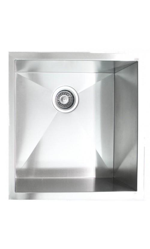 19 Inch Stainless Steel Undermount Single Bowl Kitchen / Bar / Prep Sink Zero Radius Design