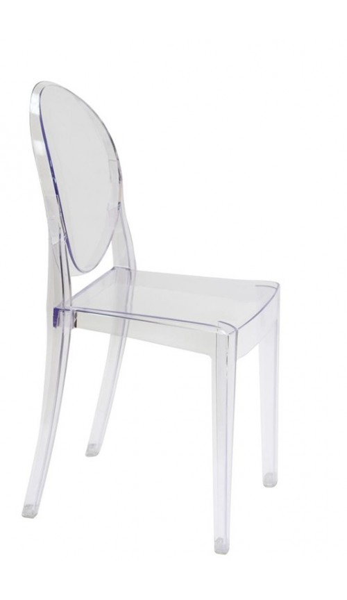 Modern Contemporary Design Kitchen Dining Side Chair Crystal Clear Transparent