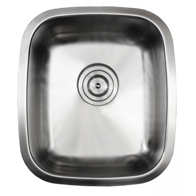 Ariel Pearl 15 Inch Stainless Steel Undermount Single Bowl Kitchen ...