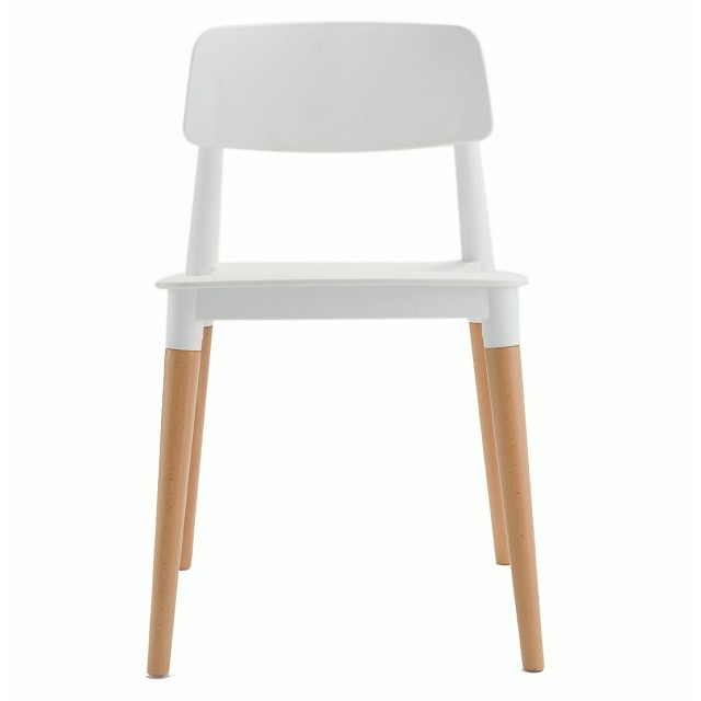 Bel White Dining Bistro Cafe Modern Minimalist Side Chair