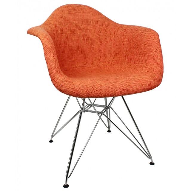sc 1 st  eModernDecor & Orange Woolen Fabric Eames Style Accent Arm Chair