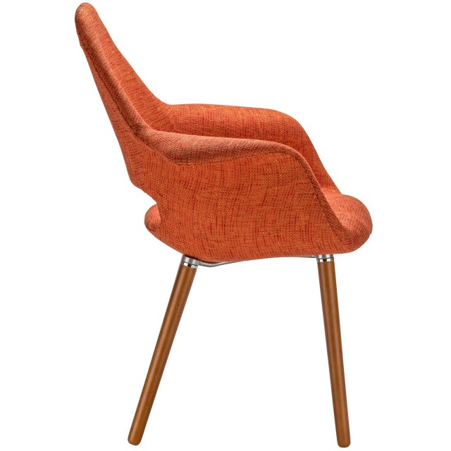 Delicieux Orange Fabric Organic Armchair