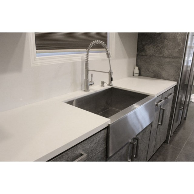 33 Inch Stainless Steel 40 60 Double Bowl Flat Front Farm A Kitchen Sink