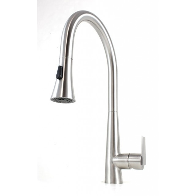 Stainless Steel Kitchen Faucet With Pull Down Spray | Ariel Eclipse Design Functions Stainless Steel Pull Out Sprayer
