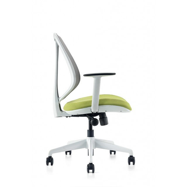 Omin Series Ergonomic Office Chair Gray Mesh Low Back Conference Office  Task Chair with Extension Lumbar Support, Hydraulic Adjustable Height and  ...