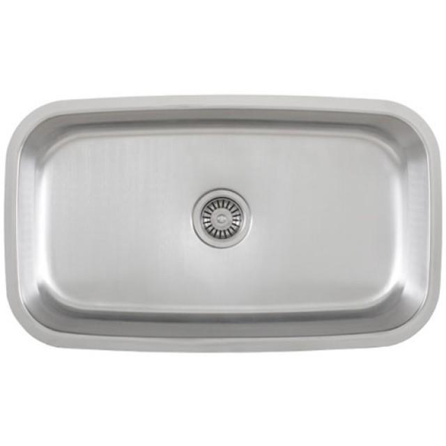 30 Inch Stainless Steel Undermount Single Bowl Kitchen Sink - 18 Gauge