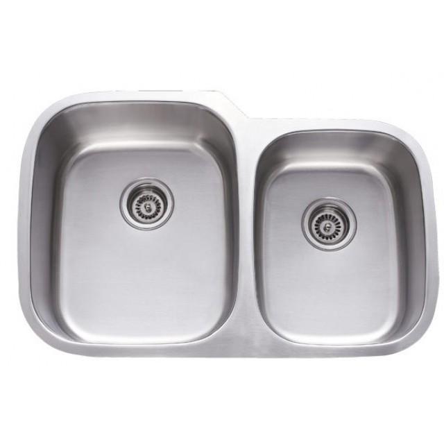 32 Inch Stainless Steel Undermount 60/40 Double Bowl Kitchen Sink   18 Gauge
