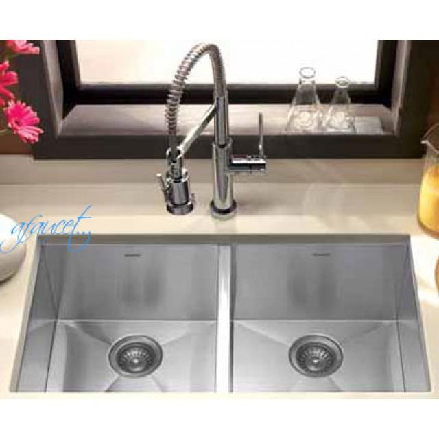 32 Inch Stainless Steel Undermount 50/50 Double Bowl Kitchen Sink ...