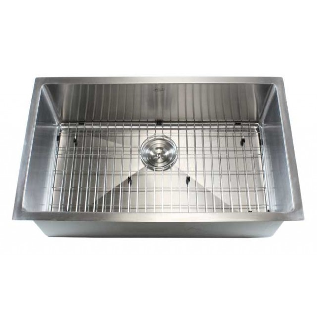 Ariel 32 Inch Stainless Steel Undermount Single Bowl Kitchen Sink 15mm Radius Design 16 Gauge