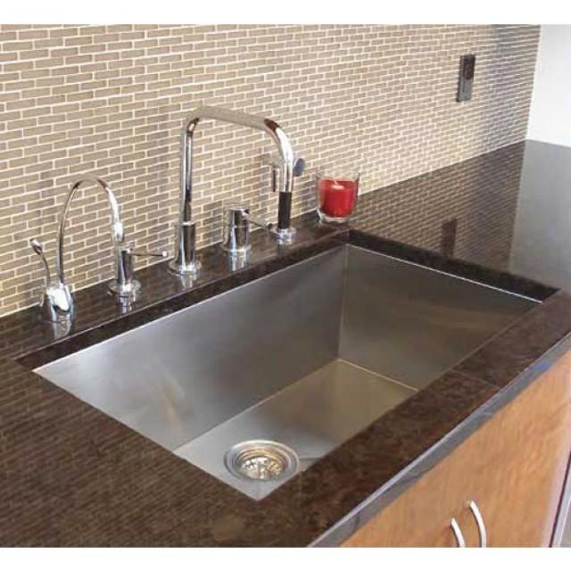 32 Inch Zero Radius Stainless Steel Undermount Single Bowl Kitchen Undermount Composite Kitchen Sink With Faucet on wall mount kitchen sink faucet, farmhouse kitchen sink faucet, single kitchen sink faucet,