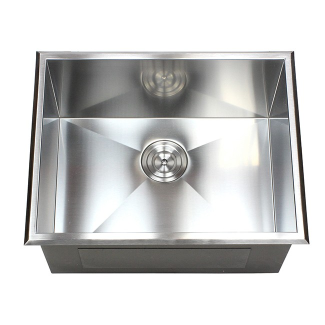 23 Inch Drop In Stainless Steel Single Bowl Kitchen Utility