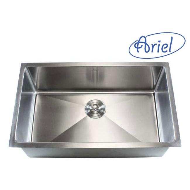Ariel 32 Inch Stainless Steel Undermount Single Bowl Kitchen Sink ...
