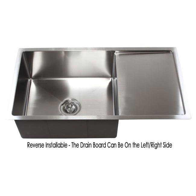 Sensational 36 Inch Stainless Steel Undermount Single Bowl Kitchen Sink Download Free Architecture Designs Osuribritishbridgeorg