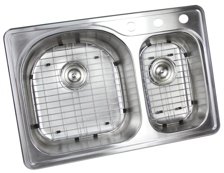 30 inch drop in kitchen sink regular price 25995 33 inch topmount dropin stainless steel 7030 double bowl