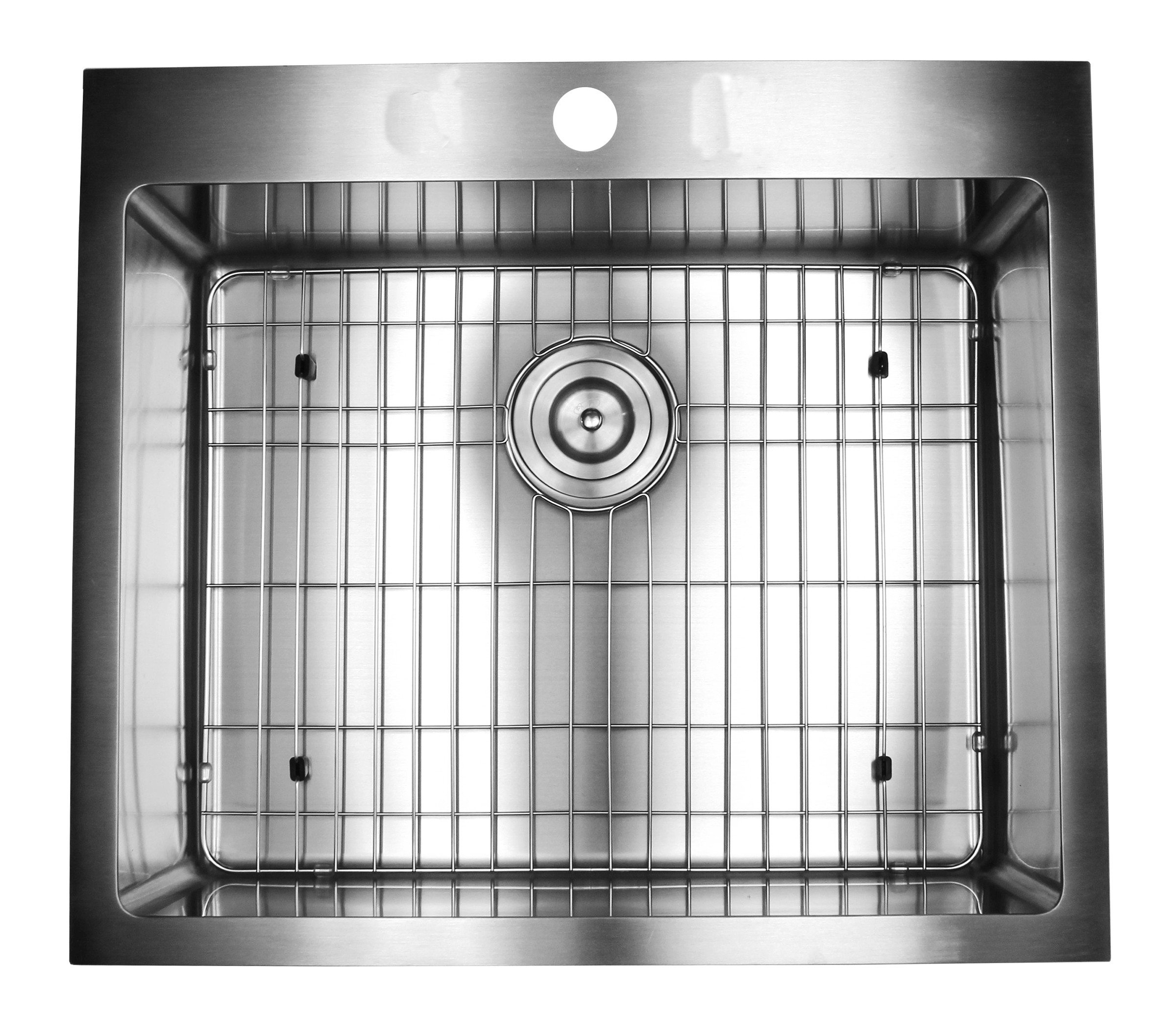 Kitchen Island With Sink Dimensions: 25 Inch Drop-In / Top-Mount Stainless Steel Single Bowl Kitchen Island / Bar Sink Premium