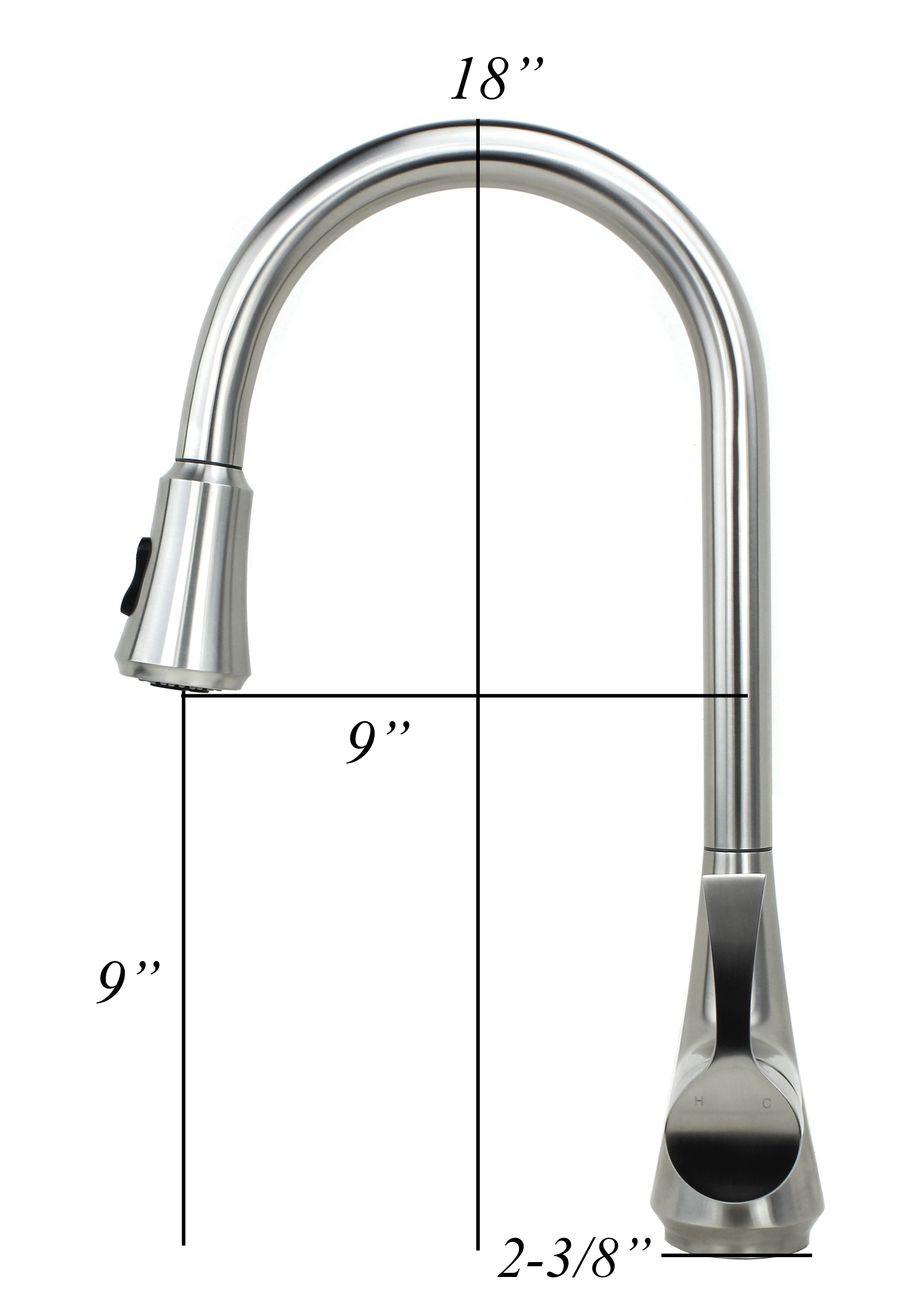 Ariel Solid Stainless Steel Lead Free Single Handle Pull