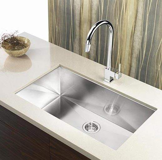 36 Inch Stainless Steel Undermount Single Bowl Kitchen Sink Zero ...