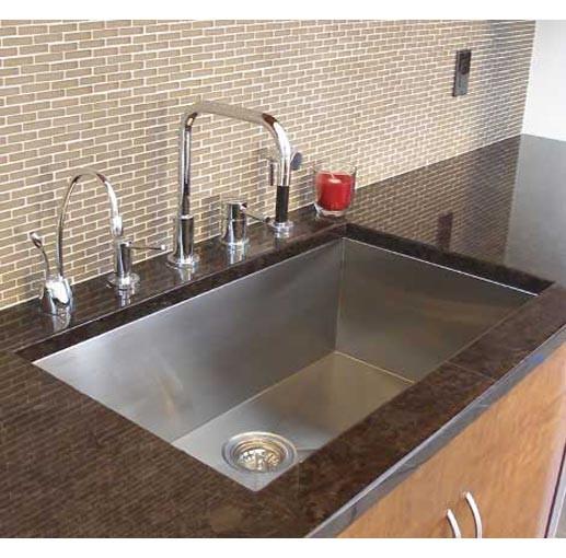 32 Inch Stainless Steel Undermount Single Bowl Kitchen Sink Zero ...